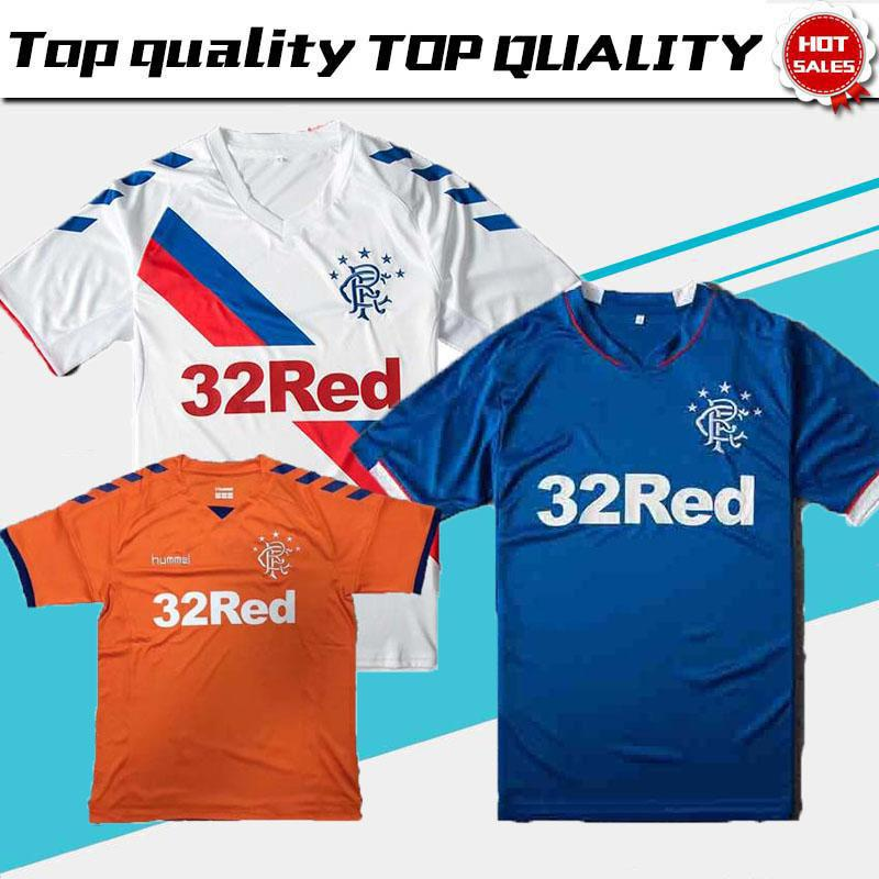 d86966e18f66 2019 Top Thailand Quality Glasgow Rangers Soccer Jersey 2019 Ranger 18 19  Home Away Jersey Football Kit Soccer Shirt Scottland Premiership Jersey  From ...