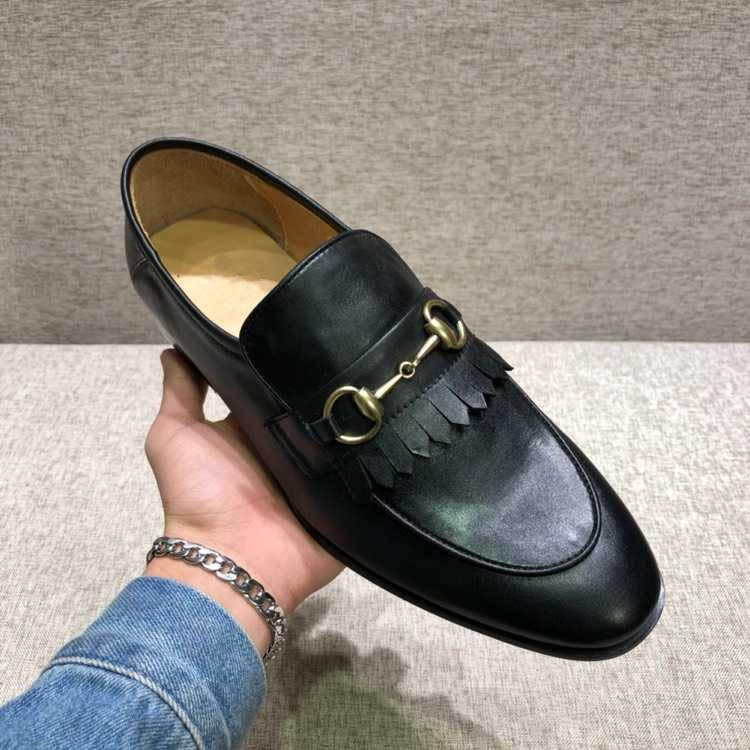 ea4bae2694f Men  s shoes fringe Horsebit loafer shoes Fashion man casual Genuine Leather  LUXURY BRAND Dress Men  s shoes Model 247870641
