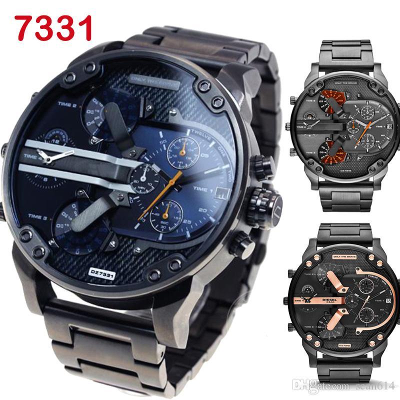 69a3cfcc60d Best-seller dz moda masculina atmos relógio relógio marca montre homme luxo  homens relógios mens oversized relógio de pulso masculino relógio dz7315