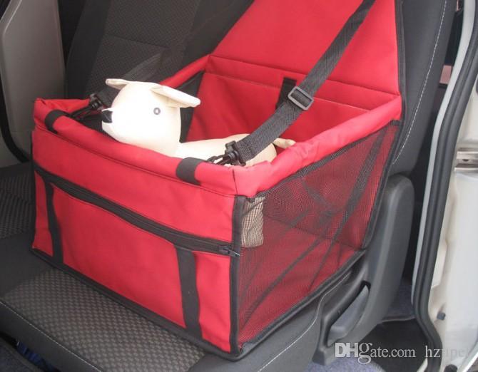 Portable siège de voiture pour animaux de compagnie couvre mode explosion réseau sac imperméable à l'eau tapis de voiture sac de voyage en voiture sac respirant avec barre de support