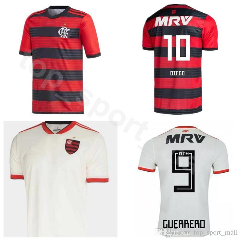 Compre Clube De Regatas Do Flamengo 11 Lucas Paqueta Jersey Men Soccer 10  Diego Ribas Camisa De Futebol Kit Uniforme Casa Vermelho Fora Branco De ... d5e1359be623c