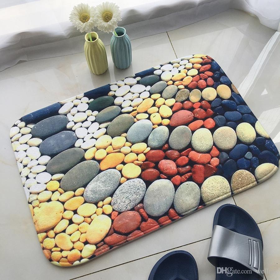 Smart Electronics Supply 3d Flannel Doormats Bathroom Non-slip Pad Bedroom Living Room Water Absorb Carpet Home Door Floor Mats