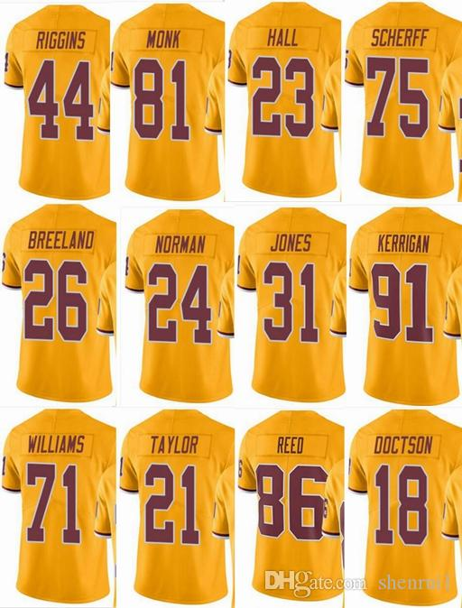 check out d3e7e 94e36 Washington #21 Sean Taylor #8 Kirk Cousins #24 Josh Norman #44 John Riggins  #86 Men Women Youth Color Rush Elite Football Jerseys