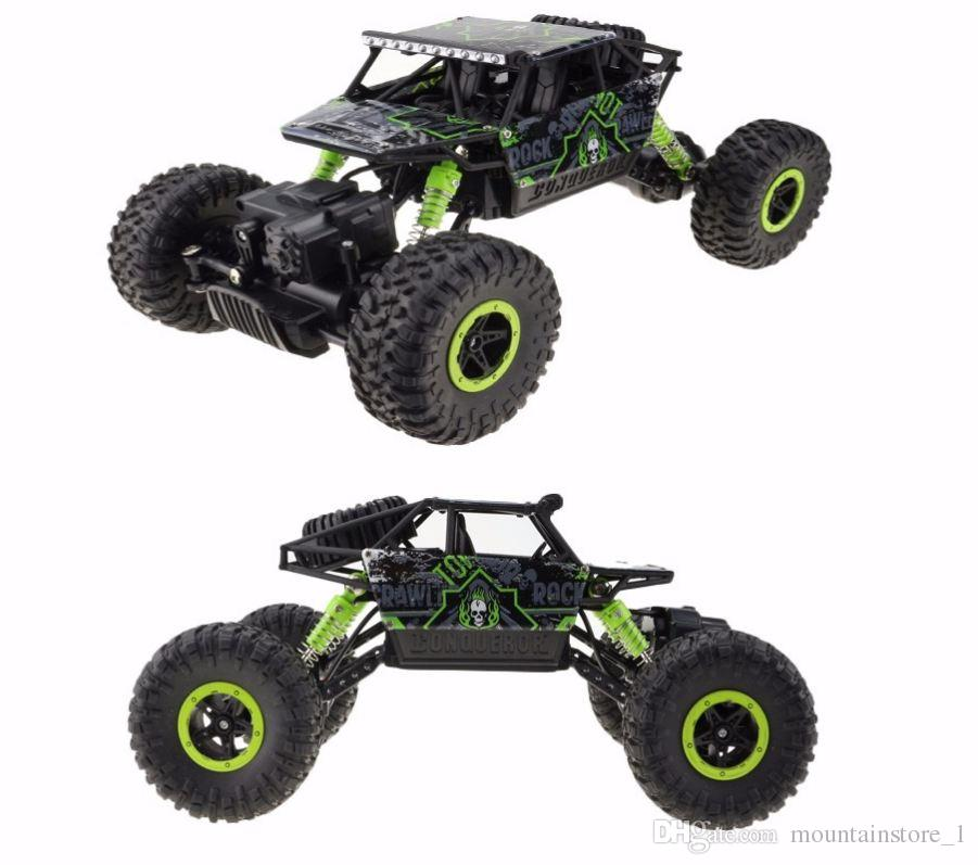 Luxury RC Car 4WD 2.4GHz Rock Crawlers Rally climbing Car 4x4 Double Motors Bigfoot Car Remote Control Model Off-Road Vehicle Toy