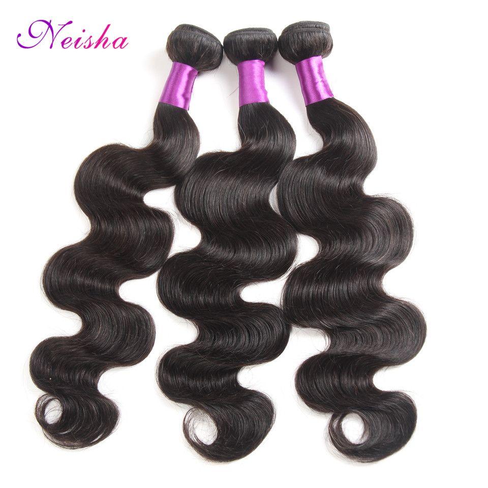 브라질 바디 워터 웨이브 Straight Kinky Curly Hair Weave Bundles 저렴한 브라 질 리언 버진 휴먼 헤어 익스텐션 4 묶음 Natural Color 1B