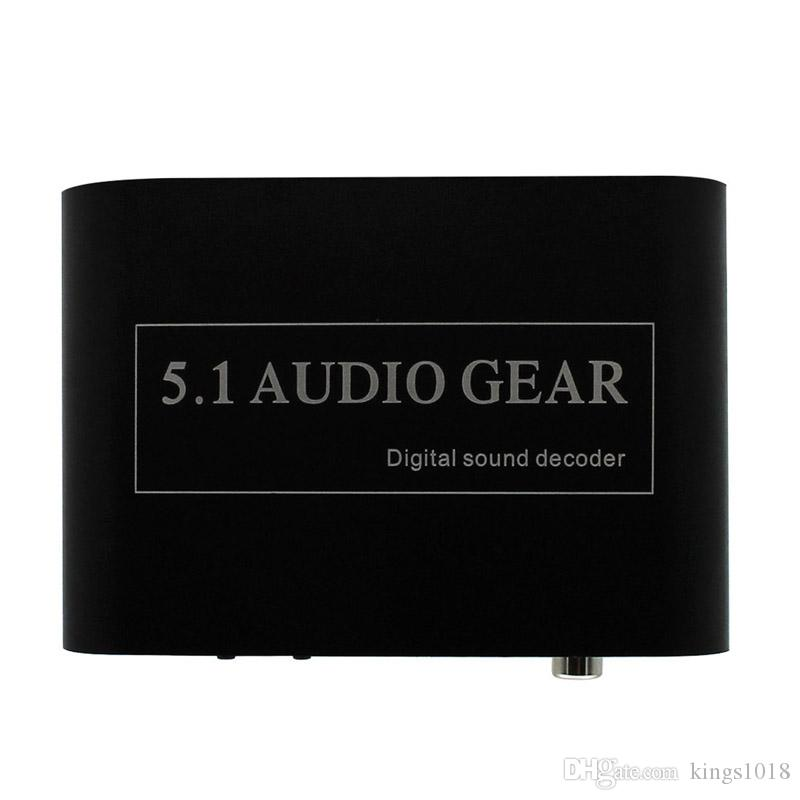 new Only HIgh Quality New 5.1 AC3 DTS HD Audio Decoder Digital Sound Decoder Optical SPDIF Coaxial to 6RCA