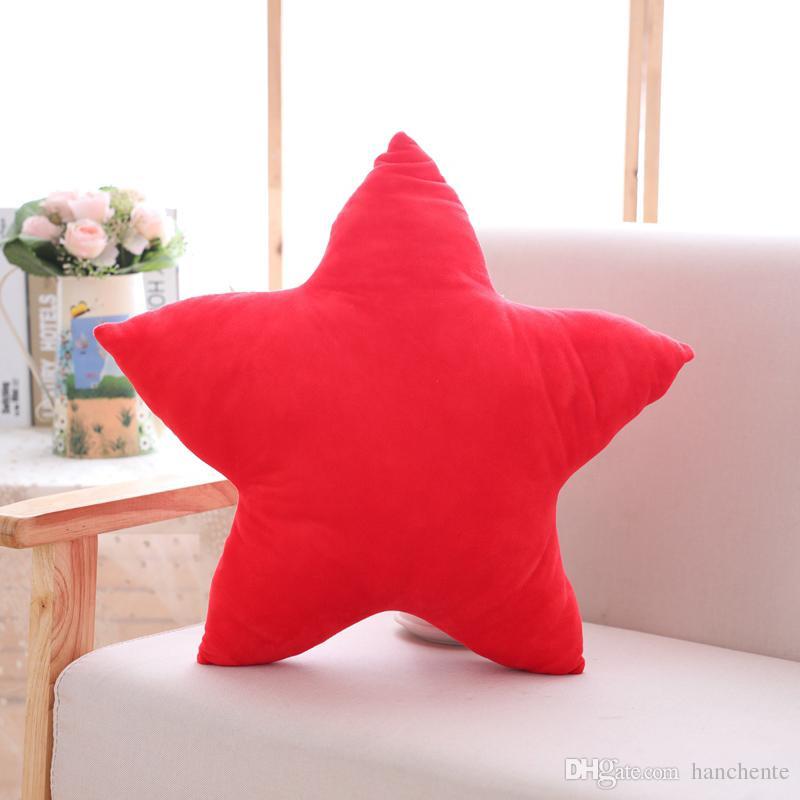 Colorful Star Shaped Stuffed Pillow Couch Sofa Decor Cushion Nap Companion  Cushion Bedroom Chair Decor Pillow Pink Red Yellow Star Shaped Pillow  Colorful ...
