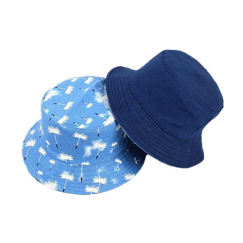 1548b3b45 Adult Cotton Flat Hats For Men Women Chapeau Casual Reversible Bucket Hats  Cat Print Fisherman Caps Outdoors Sun Protective Beach Hat