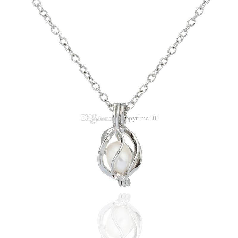 16 Styles in stock teardrop openwork pearl locket pendants 18kgp fashion love wish pearl/ gem beads locket pendants DIY pearl cage pendants