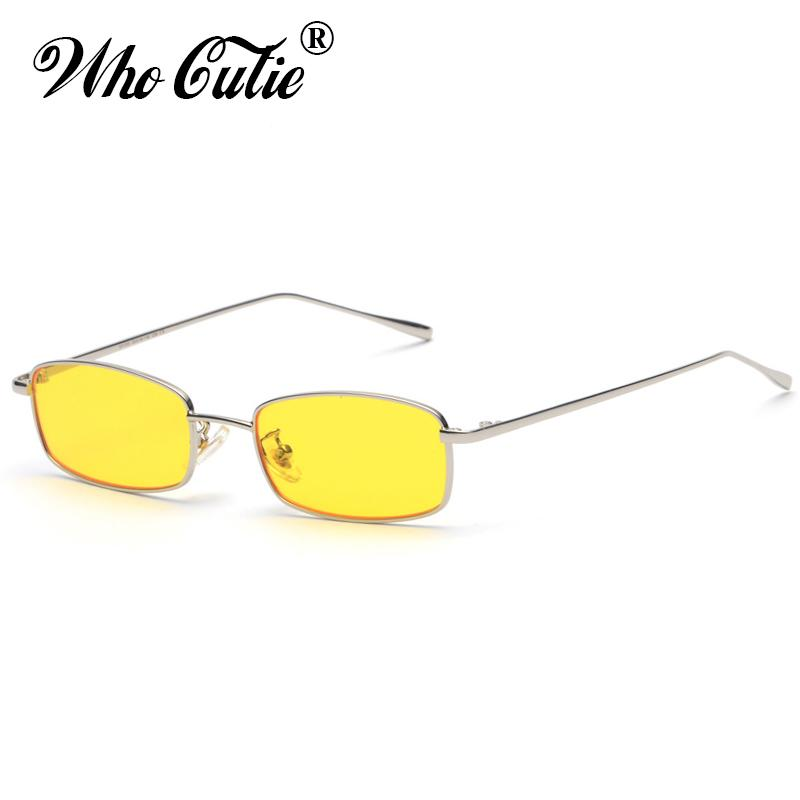 dc721177cf WHO CUTIE 2018 Small Narrow Rectangle Sunglasses Women Men Brand Red Clear  Lens Skinny Slim Wire Retro Sun Glasses Shades OM522 Sunglasses Brands Best  ...