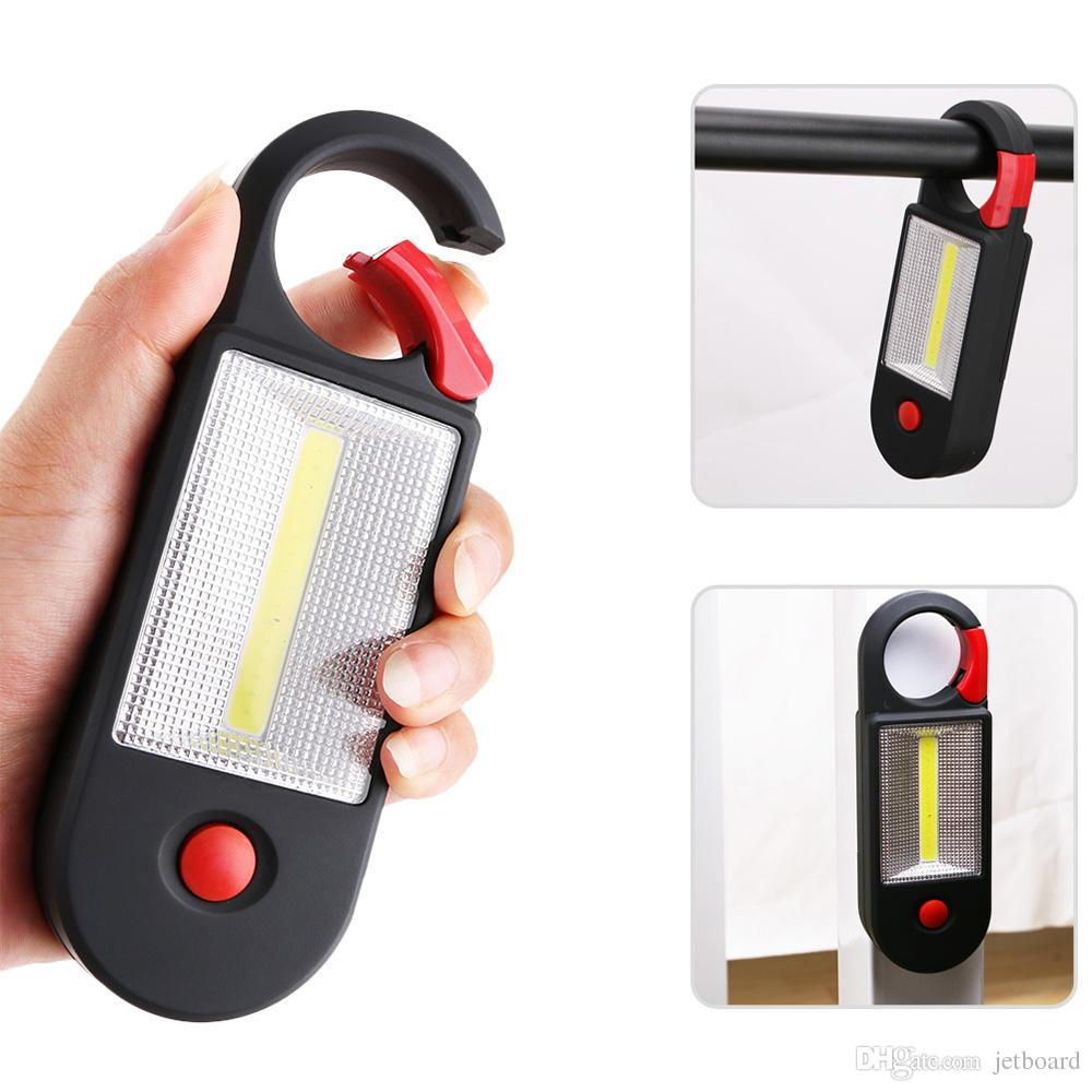 2 Mode COB LED Outdoor Camping Light Inspection Lamp Hand Torch Work Light With Hook Magnet