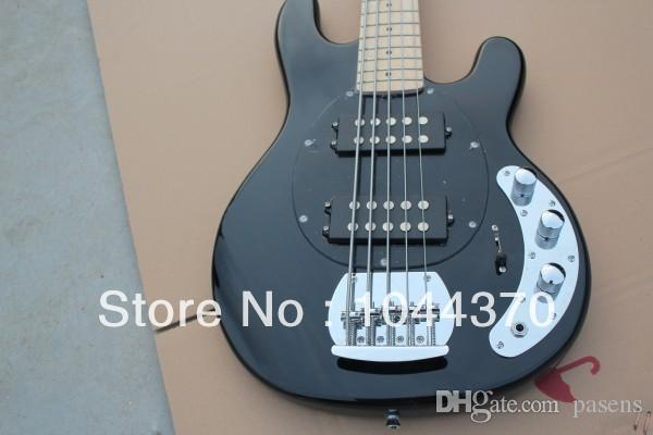 Wholesale 5 strings bass Black Music bass stingray electric bass HOT free shipping2016