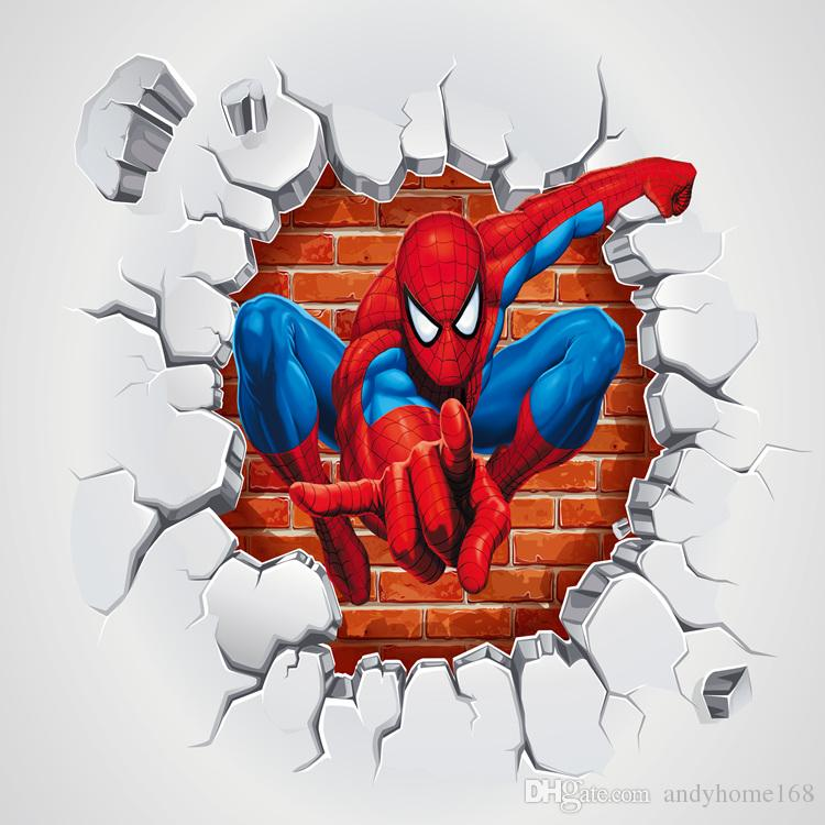Acheter Arkadi 3d Superman Spiderman Papier Peint Chambre D Enfants
