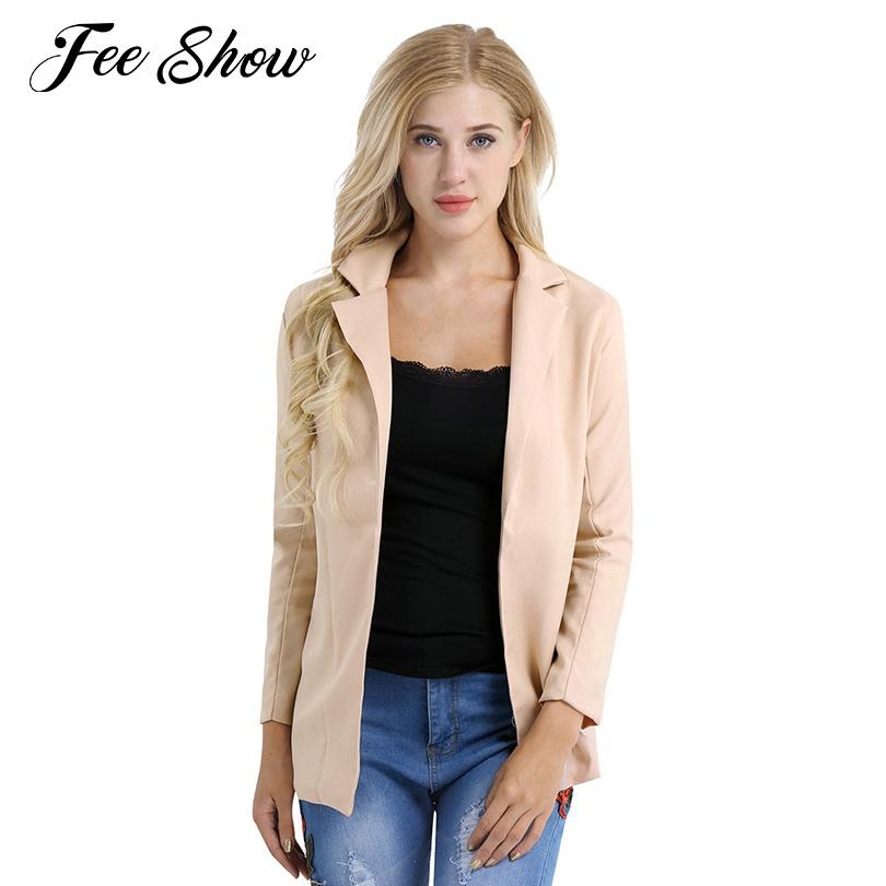 8db39372501 2019 Women Casual Work Office Long Sleeve Open Front Soft Long Blazer  Cardigan Jacket Coat Shirt Women S Jacket Coat With Fully Lined From  Genguo