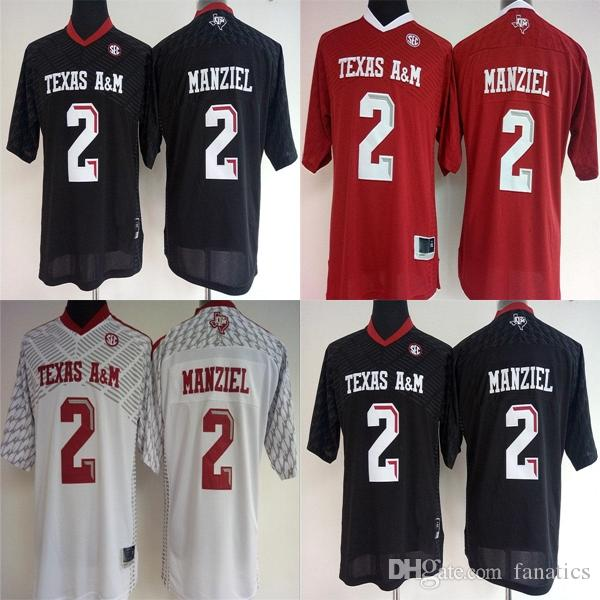 cf52b6cb7a6 2019 2017 Cheap Wholesale Factory Outlet Womens College Texas A M Aggies 2  Johnny Manziel Red White Black Womens Football Jerseys From Fanatics