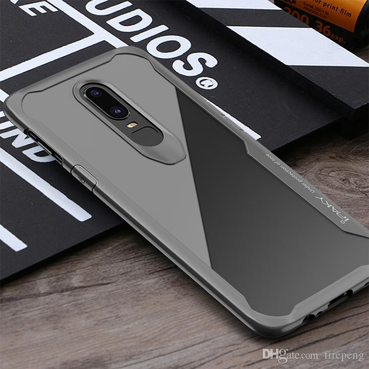 b50f9da4671 IPaky Case For Oneplus 6 Six 1+6 Transparent Clear Drop Proof Shockproof  Airbag Back Cover PC+TPU Cases With Package In Stock Wholesale Cell Phone  Wallet ...