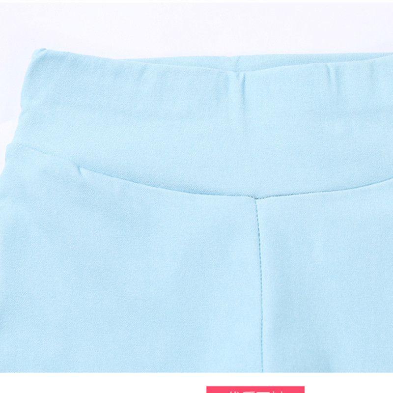 2016 Autumn Pure Girls Pants Slim Elestic Waist Children Trousers Kids Pants Candy Color Causal Jeans For Girls leggings JW0543