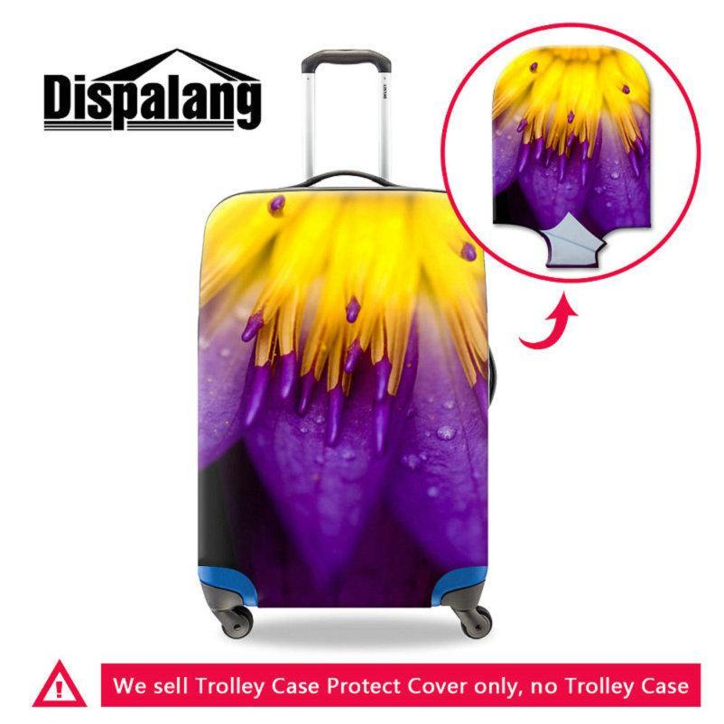 Cubiertas protectoras del equipaje de la flor 3D para la carretilla de la carretilla de las mujeres de 18-30 pulgadas Cubiertas portátiles del polvo de la caja al aire libre a prueba de agua Accesorios del recorrido