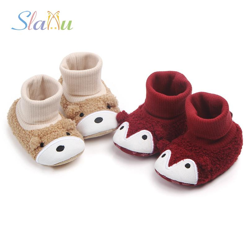 645e3996b4e3 2019 Baby Shoes Cartoon Animals Newborn Boy Girl Thick Keep Warm Shoes  Toddler First Walkers Soft Bottom Non Slip Infant Boots From Phononame