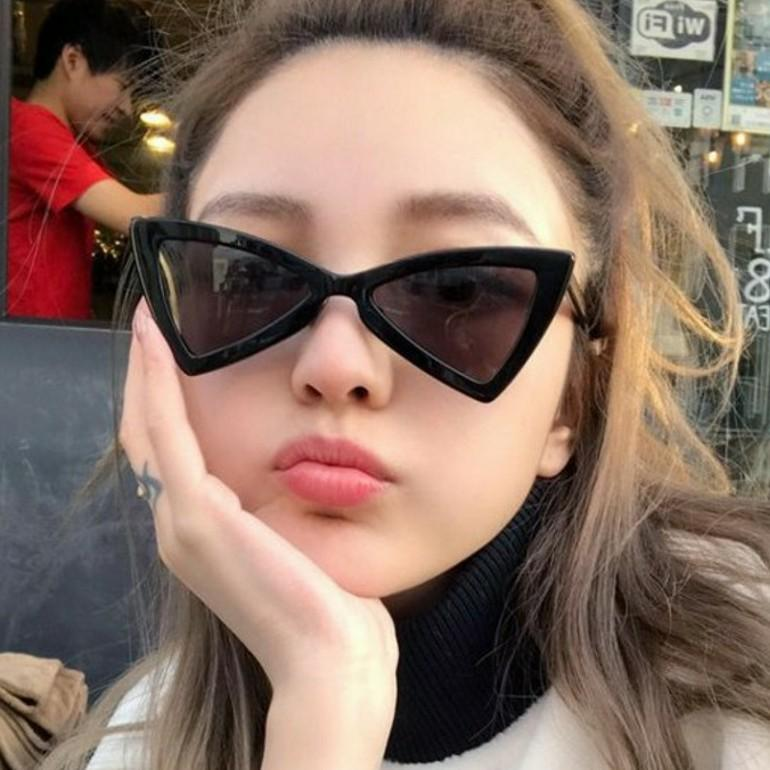 Shot Sunglasses And Boxes Trend Women Vintage Street S Bow 2018 Triangle Sports CxsdQrthB