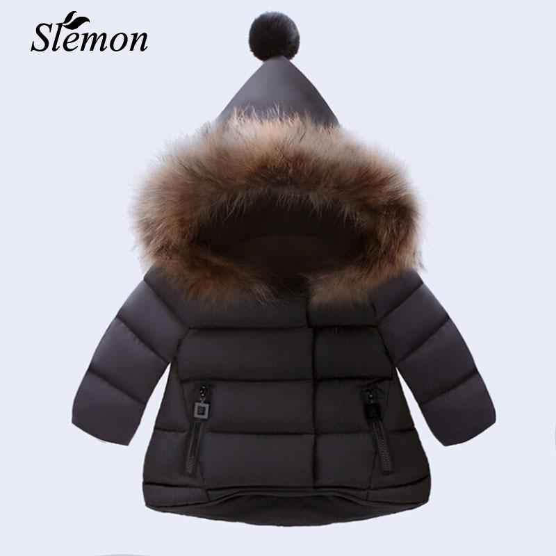 1c21ec716b98 New Arrived Baby Girl Winter Down Coat 2018 Kids Thick Clothing ...