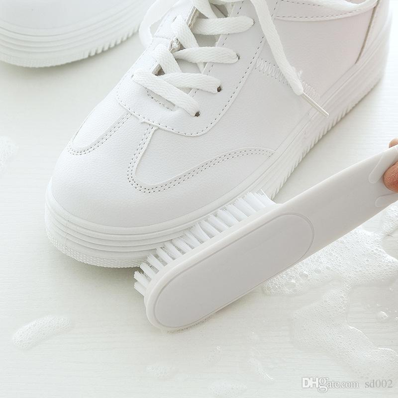 Brosses à chaussures Nettoyage Longue Poignée Lavage Vêtements Plastique Multifonction Bootpolish Ours Brosse Fourrure Frotter Brus 3 5hd V