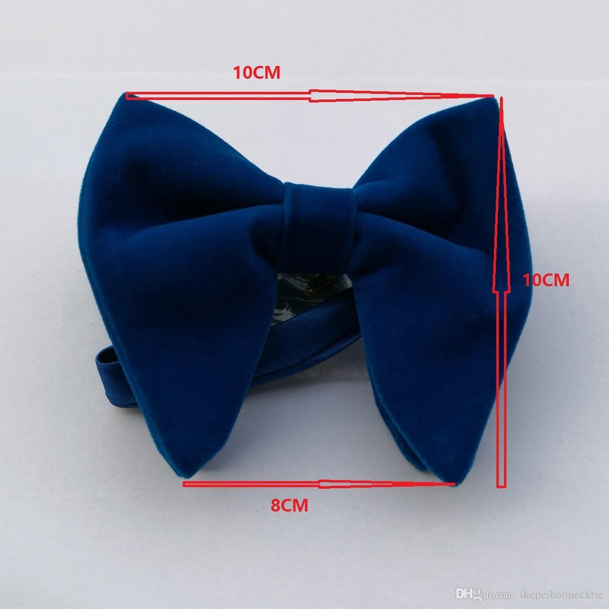 Ikepeibao زفاف رجالي المخمل الأسود بووتيس برقبة مان فريد سهرة ربطة