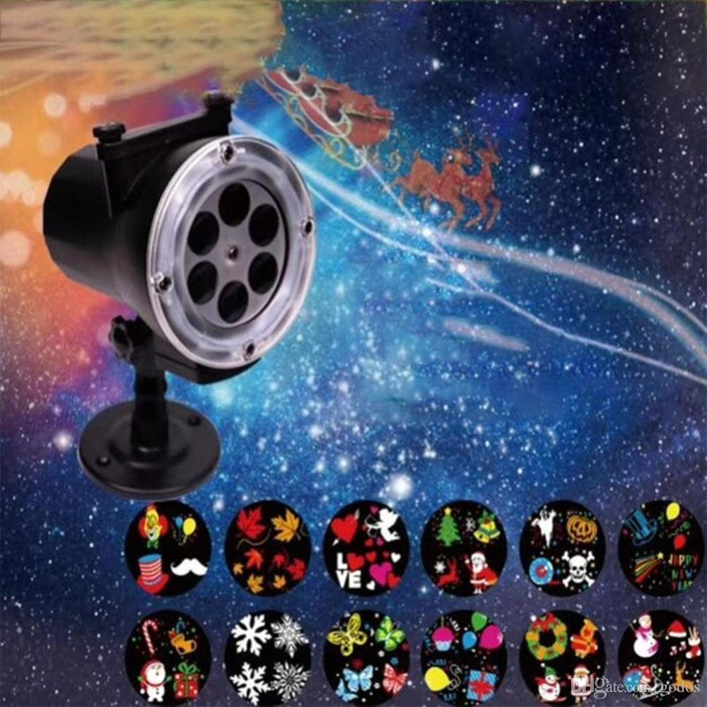 12 Patterns Red Green Laser Projector Waterproof Outdoor Remote RG  Landscape Lighting Garden Christmas Holiday Lawn Lights