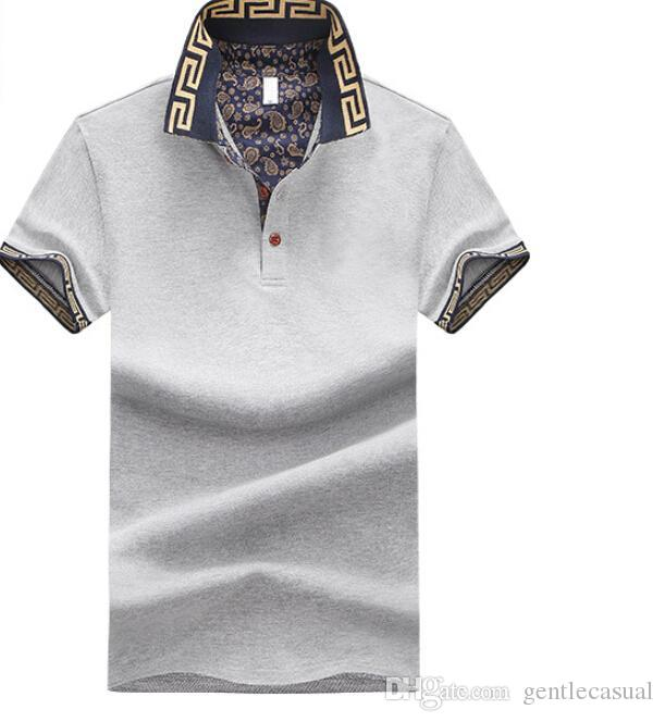 Mens Polos Short Sleeve Summer Pullover T-shirts Patchwork Fashion British Style Tees Males Tshirt Tops Clothes Plus Size M-5XL
