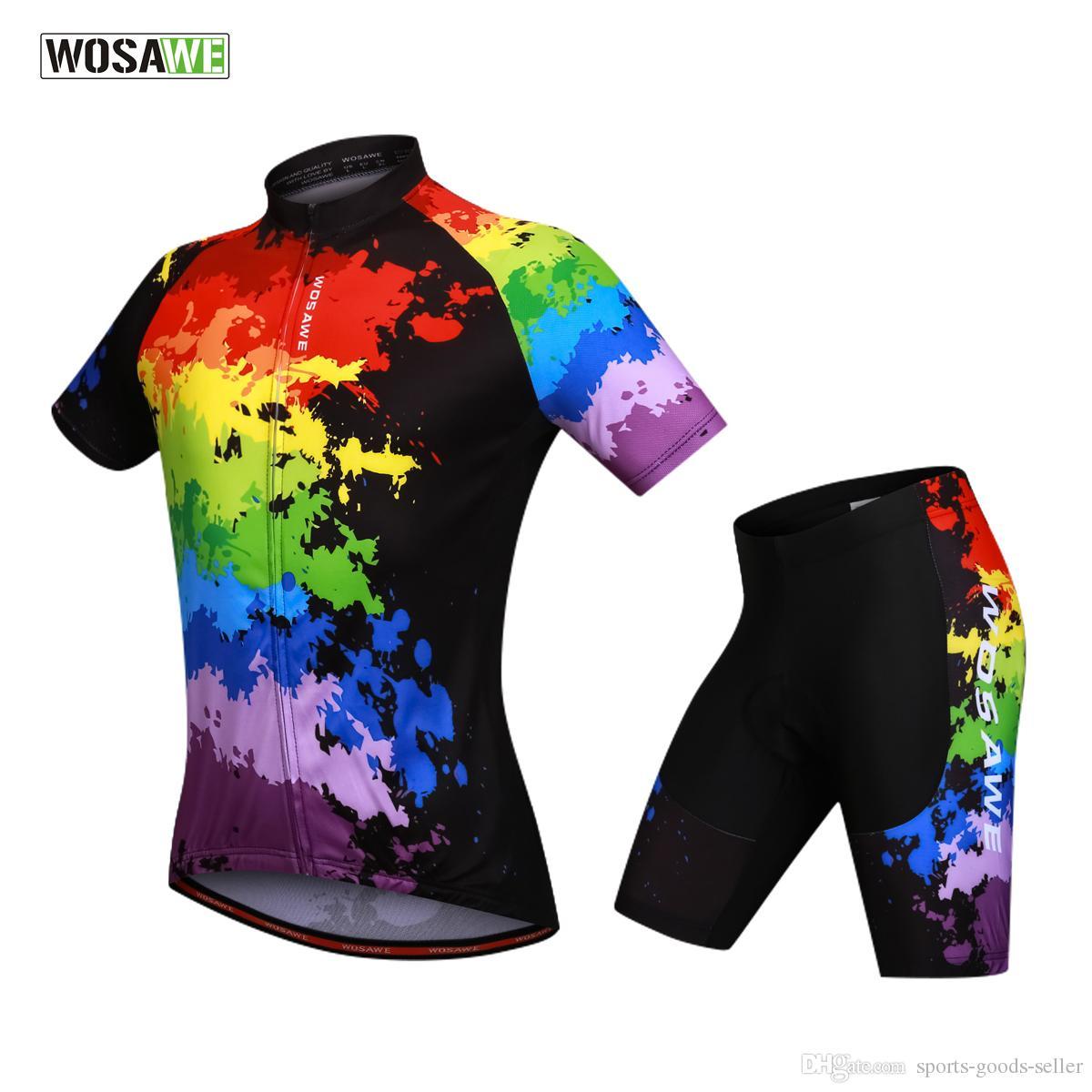 Wosawe Bike Team 2018 Unisex Summer Cycling Apparel Spandex Cycling ... 74c123c0f