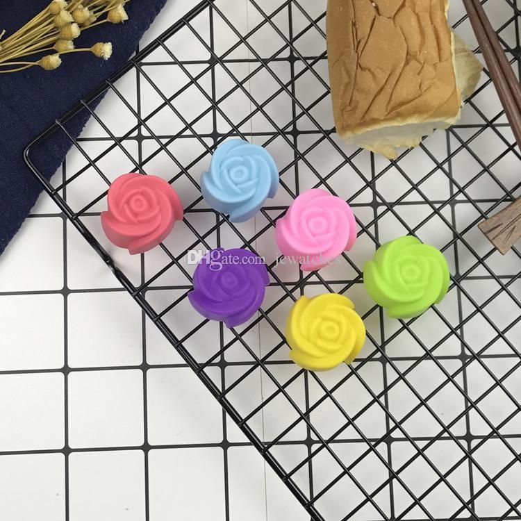 3 см роза цветок Shaped кекс силиконовые кекс Кубок торт формы для выпечки инструмент выпечки кондитерские изделия кухня гаджеты