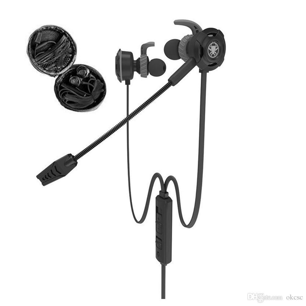 OKCSC G30 게이밍 이어폰 PS4 Xbox 컴퓨터 및 P 용 분리형 마이크 소음 제거 헤드셋이 장착 된 고음질 유선 게임용 헤드셋