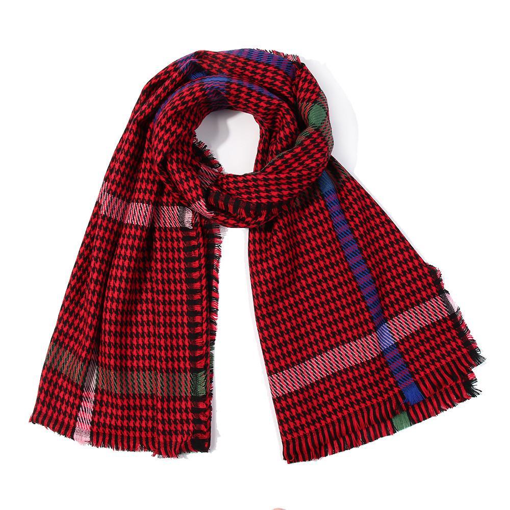 395d5191dfb11 Scarves For Women Bandanas Elegant Scarf Female Houndstooth Scarf Wrap  Fashion Warm Shawls Headband Soft Shawl Long Bandana Around Neck Cute  Bandanas From ...