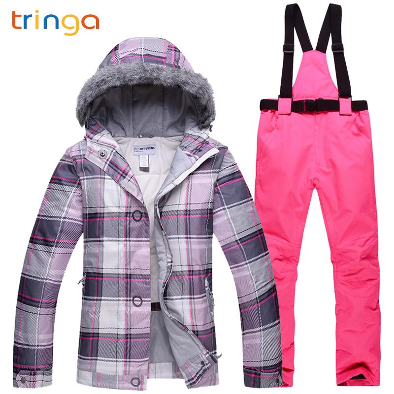 TRINGA Brands Winter Ski Suit Women High Quality Ski Jacket Pants Snow Warm  Waterproof Windproof Skiing And Snowboarding Suits Skiing Jackets Cheap  Skiing ... 72f13937b