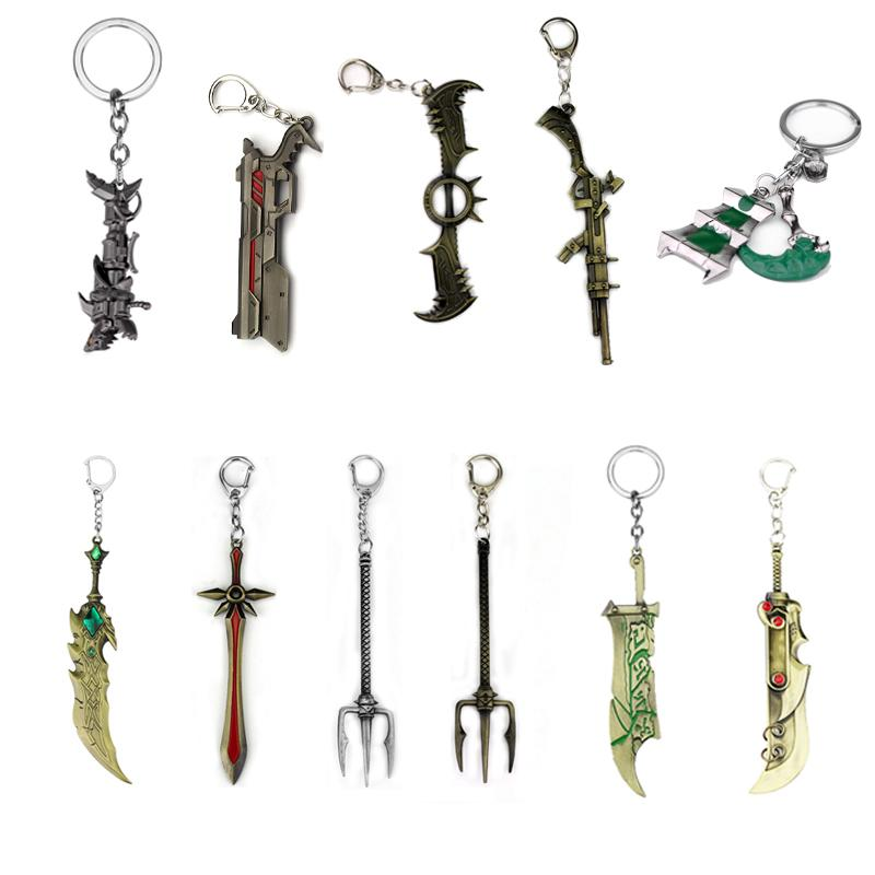 Novelty & Special Use Game Lol Thresh Weapon Lol Zinc Alloy High Quality Lantern And Sickle Keychain Drop Shipping Attractive Appearance Costumes & Accessories