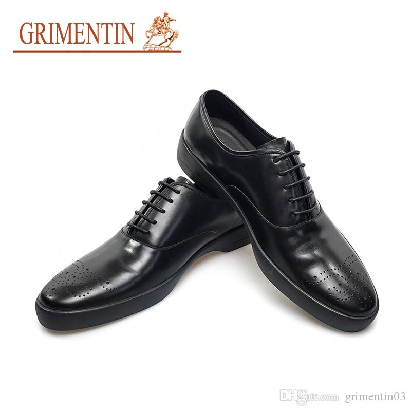feb320929c939 GRIMENTIN Newest Leather Shoes Oxford Men Designer High Top Black ...