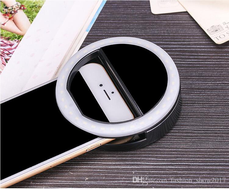 Celular selfie LED Ring Flash Lente Beleza Fill Light Lamp Clipe portátil para câmera de telefone celular Smartphone