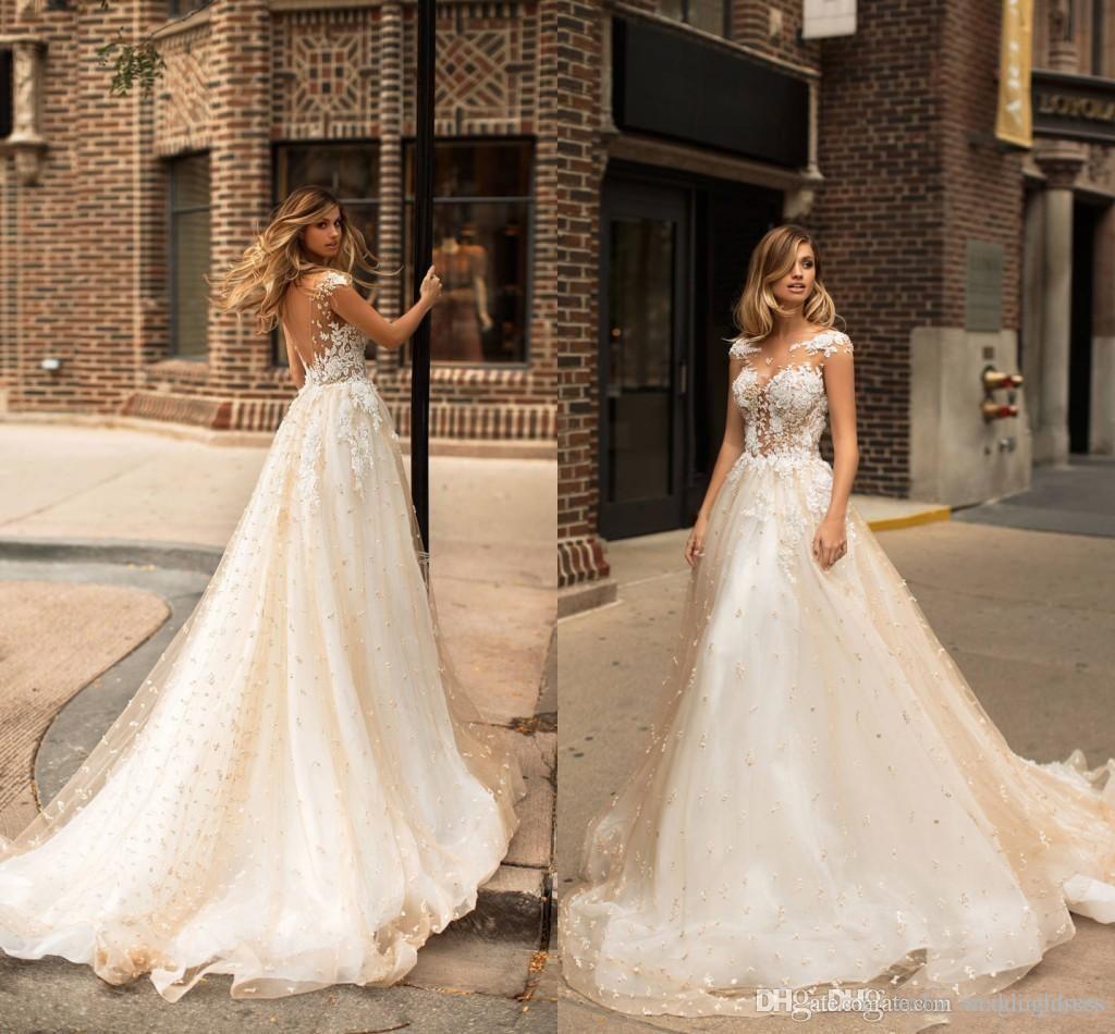 Discount 2018 Milla Nova New Design Wedding Dresses Lace Pearls ...
