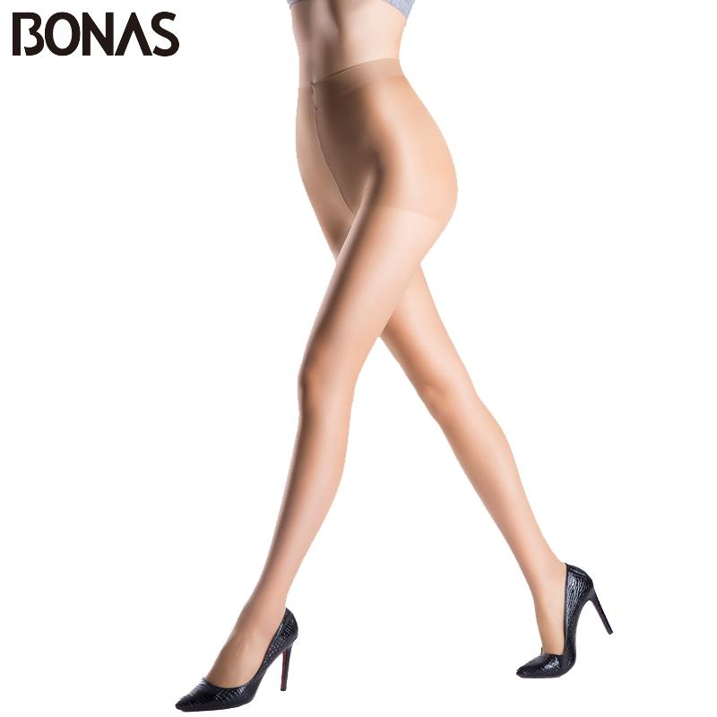 550a29b99 BONAS Spring Sexy Nylon Women s Tights Fashion Lady Stretchy Hosiery  Spandex Black Pantyhose Solid Color Female Thin Stockings