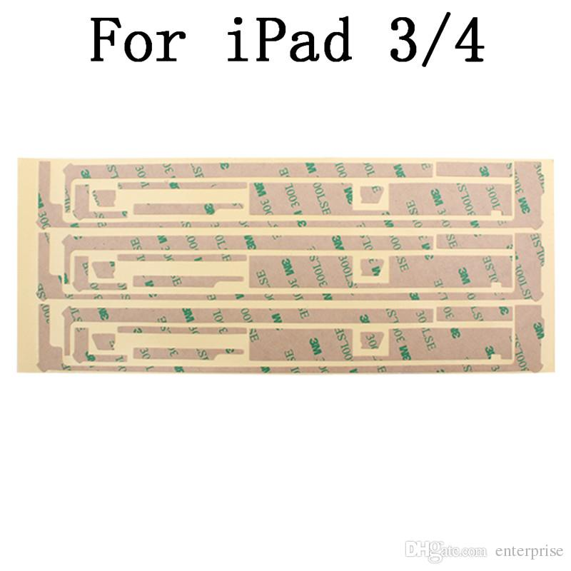 Best Price For iPad 2 3 4 5 Air Digitizer Pre-cut 3M Adhesive Sticker For iPad Mini 1 2 Touch Screen DHL EMS Free Ship