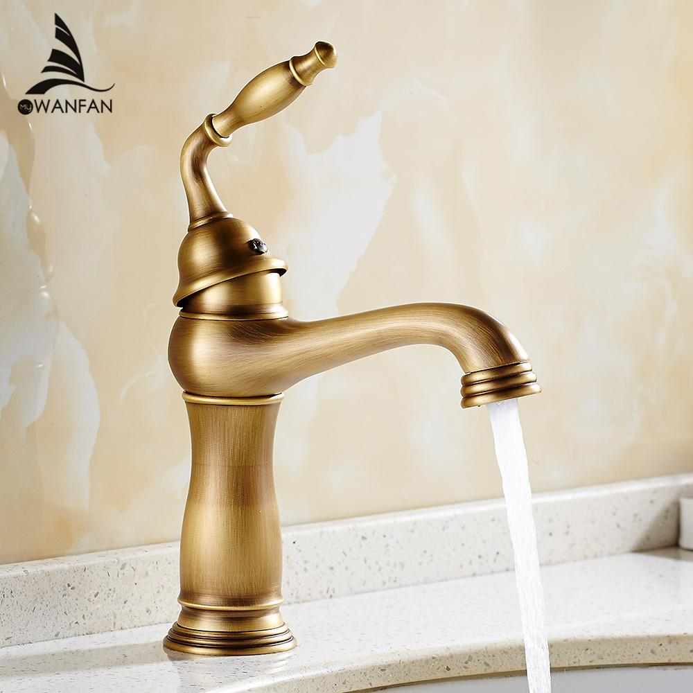 2018 Basin Faucets Solid Brass Deck Mount Bathroom Sink Faucet ...