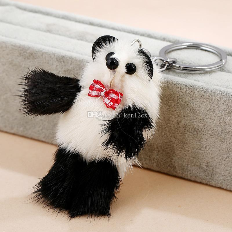 New Small 8cm Panda Keychain Pendant Cute Kawaii Quality Baby Children Plush Toys Hot Sell Kids Toys for Children