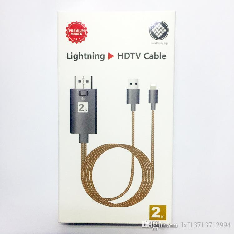 2M Dock to HDMI HDTV TV Adapter USB Nylon Cable 1080P for IPX/8/7 IOS device