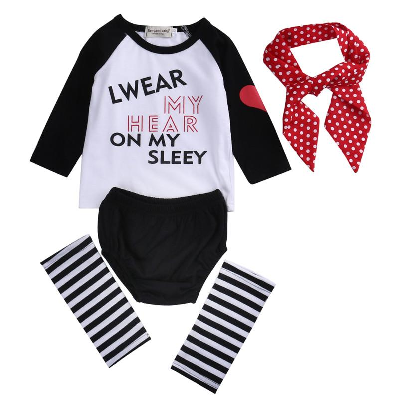 0f769bad9 2019 2018 Newborn Clothes Sets Baby Girls Clothes Long T Shirt+ ...