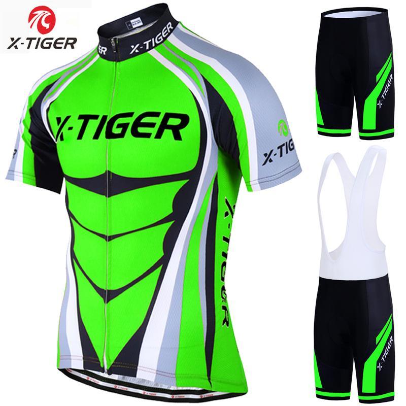 X Tiger 2018 Jersey De Ciclismo Conjunto Neon Green MTB Bike Ropa De Verano  Ropa De Bicicleta Conjunto De Ciclismo Maillot Conjunto Ropa Ciclismo Por  ... 57be4b962c754