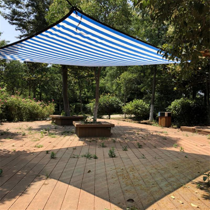 Various Size Blue White Color Sun Shelter Mesh HDPE Shade Net With ...
