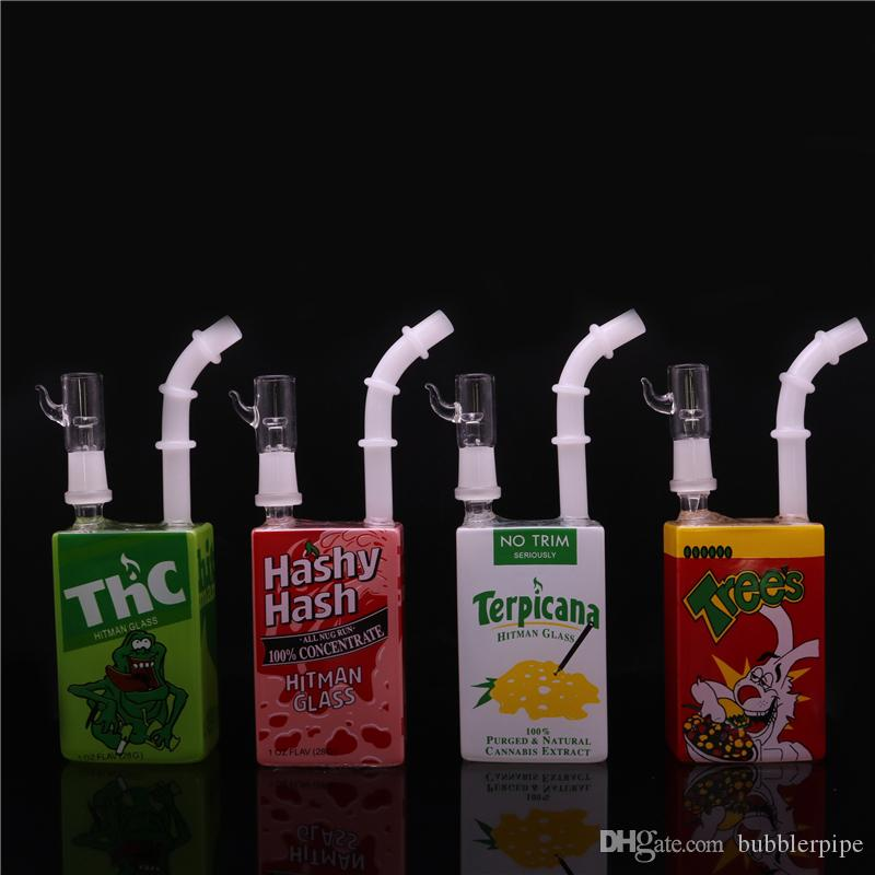 Juice Box Beaker Bongs Hitman Glasabtupfen Ölplattformen 7,5