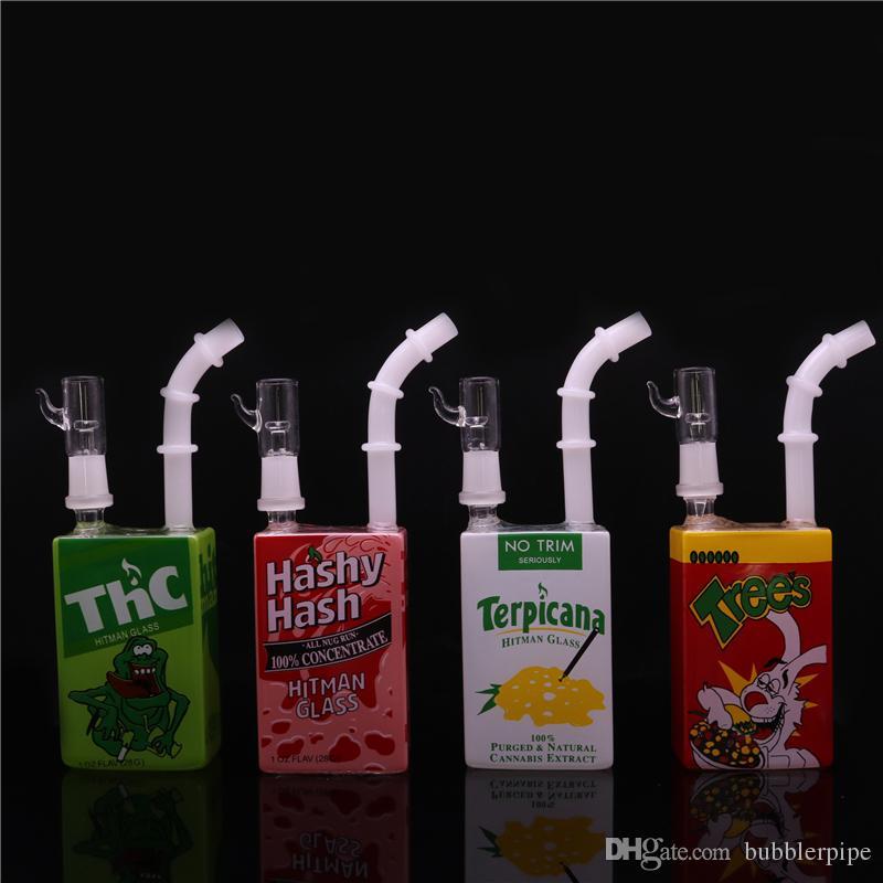 Juice Box Beaker Bongs Hitman Glass Dab Oil Rigs 7.5