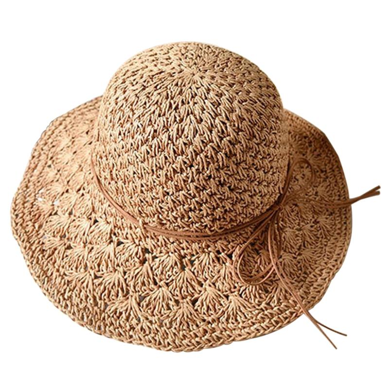2276ebfa808 Women Floppy Straw Sun Hat Summer Beach Brimmed Ladies Foldable Crushable  Cap Trilby Hats Hat Store From Saucy