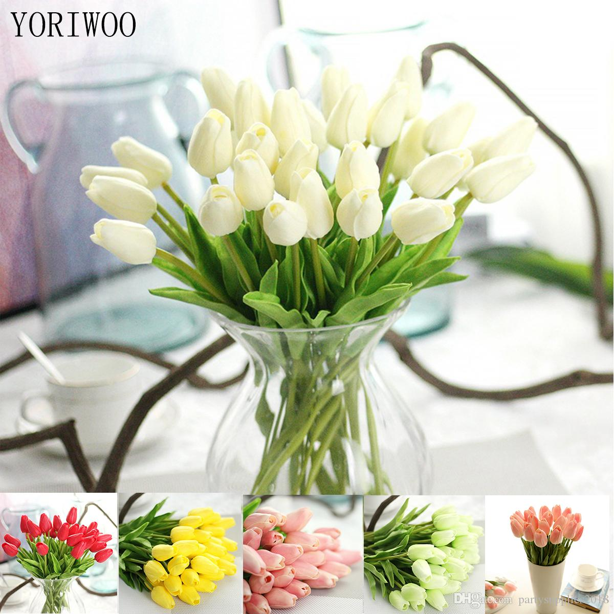 2018 latex tulips artificial pu flower bouquet real touch flowers 2018 latex tulips artificial pu flower bouquet real touch flowers for home decoration wedding decorative flowers from partysupplies2018 071 dhgate izmirmasajfo